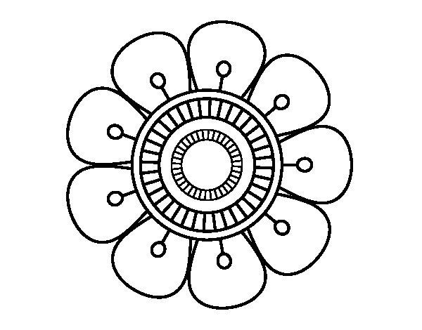 imagen de flor para colorear - Boat.jeremyeaton.co