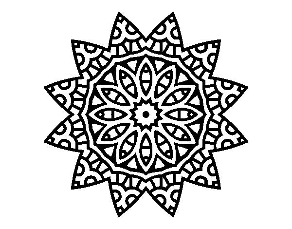 Dibujo De Mandala Estrella Para Colorear Dibujosnet