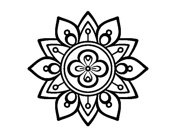 Dibujo de Mandala flor de loto para Colorear - Dibujos.net