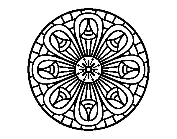 Dibujo De Mandala Lápices Crecientes Para Colorear Dibujosnet