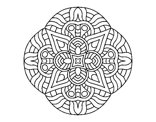 Colorear Mandalas Mandalas Dibujos Para Colorear Mandalas: Dibujo De Mandala Maya Para Colorear