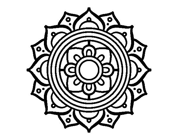 Dibujo de Mandala mosaico griego para Colorear - Dibujos.net