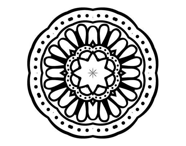 Dibujo de Mandala mosaico para Colorear - Dibujos.net
