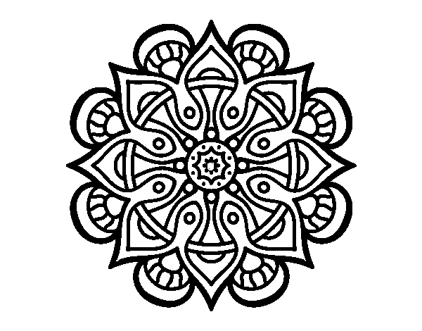Dibujo de Mandala mundo árabe para Colorear   Dibujos.net