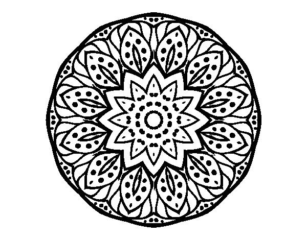 Dibujo de Mandala naturaleza para Colorear - Dibujos.net