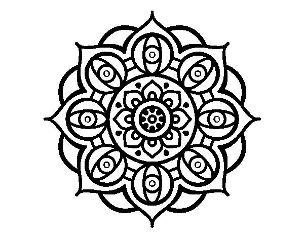 Colorear Mandalas Mandalas Dibujos Para Colorear Mandalas: Dibujo De Mandala Ojos Abiertos Para Colorear