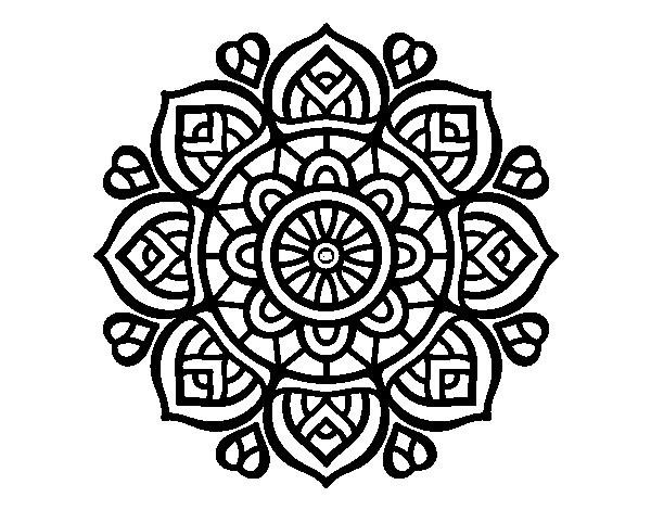Dibujo de mandala para la concentraci n mental para colorear - Colores para la concentracion ...