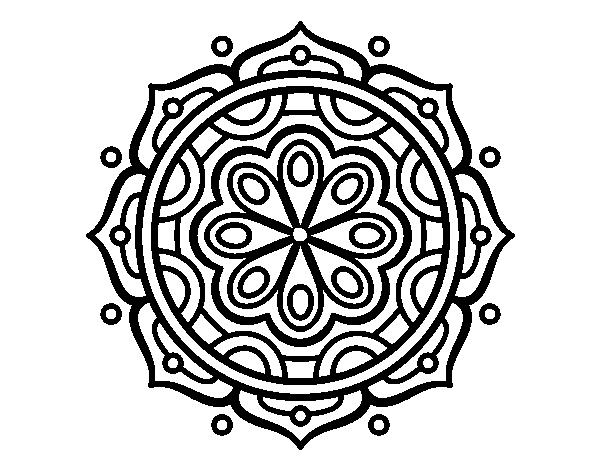 Colorear Mandalas Mandalas Dibujos Para Colorear Mandalas: Dibujo De Mandala Para Meditar Para Colorear