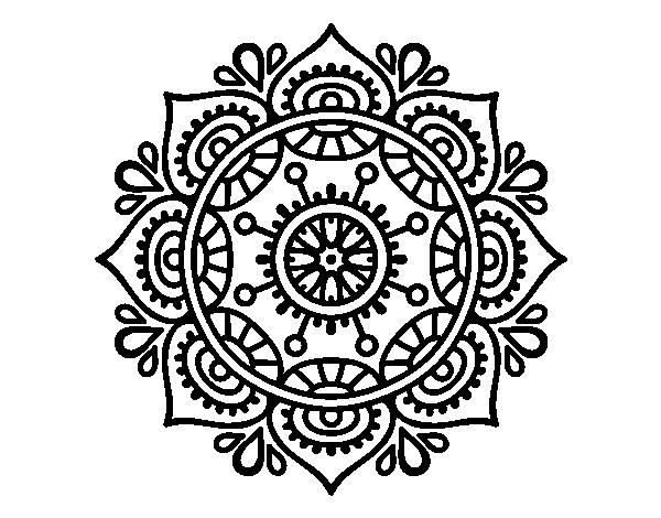 Dibujo de Mandala para relajarse para Colorear   Dibujos.net