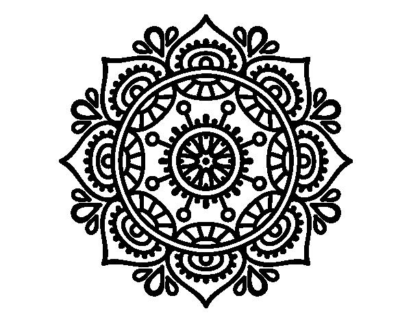 Dibujo De Mandala Para Relajarse Para Colorear Dibujosnet - Mandalas-sin-pintar