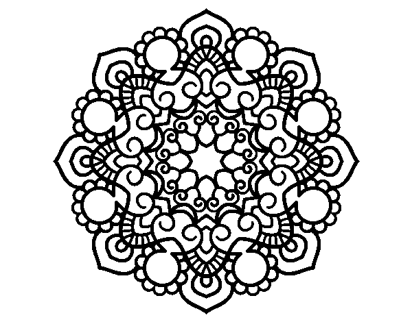 Mandala Para Colorear Mandalas Para Mandalas Para Colorear: Dibujo De Mandala Reunión Para Colorear