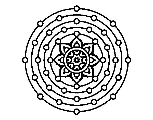 dibujo de mandala sistema solar para colorear dibujos net