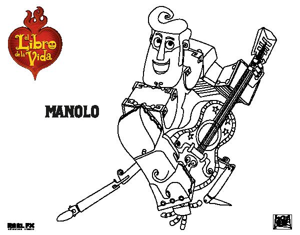 Dibujo De Manolo Para Colorear Dibujosnet