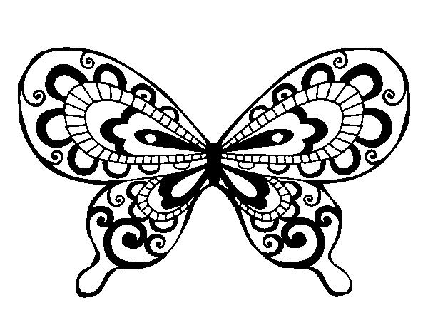 Dibujo de Mariposa bonita para Colorear - Dibujos.net
