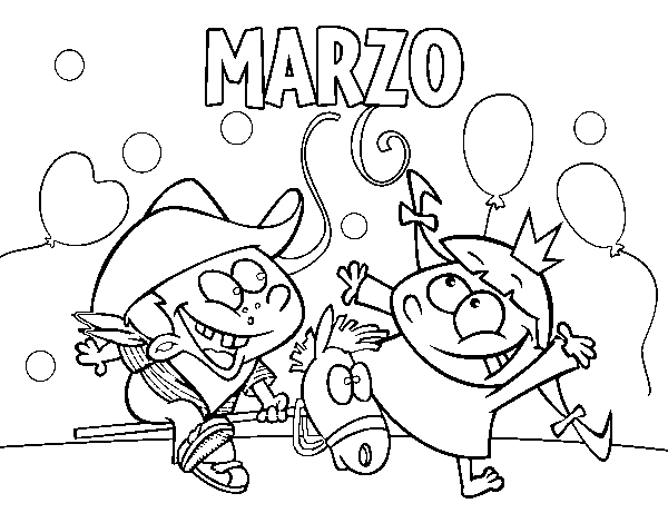 Dibujo De Marzo Para Colorear Dibujosnet