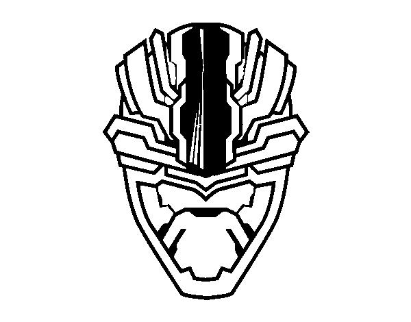 Dibujo de Máscara alienígena para Colorear - Dibujos.net