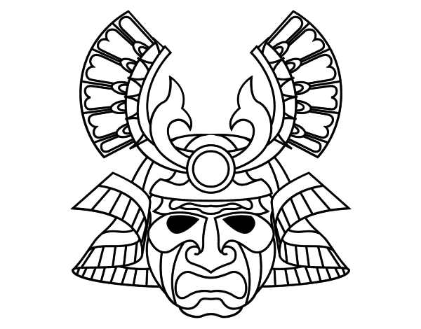 Dibujo de Máscara china para Colorear - Dibujos.net