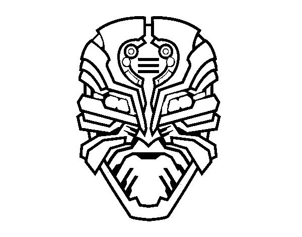 Dibujo de Máscara de robot alien para Colorear - Dibujos.net