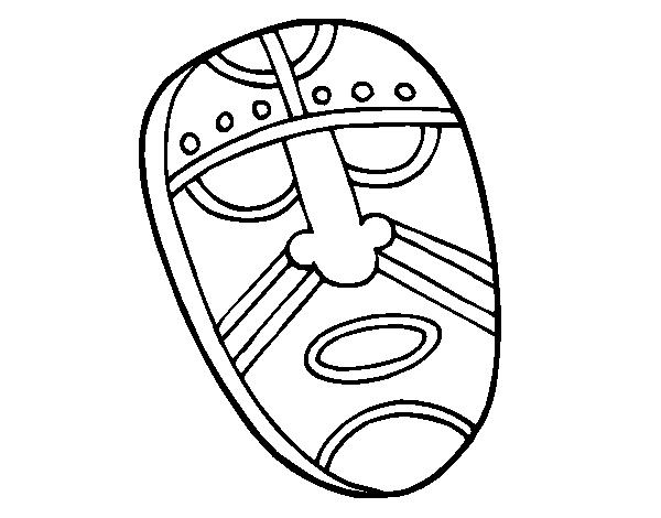 Dibujo de Máscara embobada para Colorear - Dibujos.net