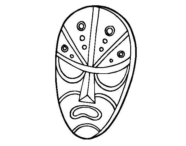 Dibujo de Máscara enfadada para Colorear - Dibujos.net
