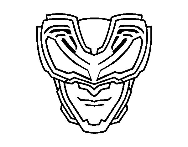 Dibujo de Máscara Rayos X para Colorear - Dibujos.net
