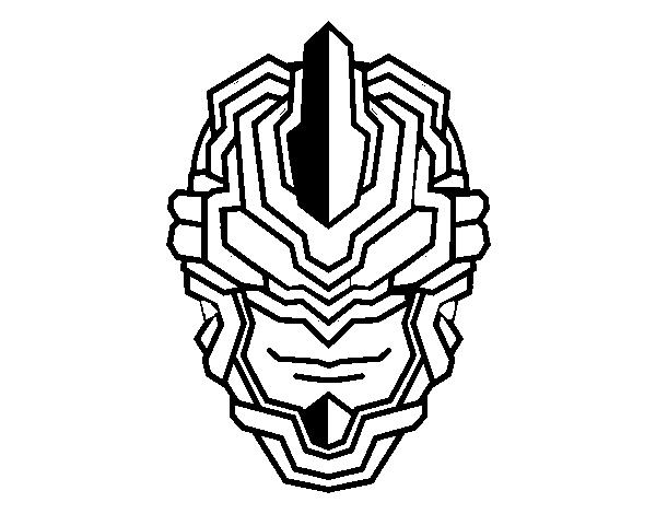 Dibujo de Máscara robot para Colorear - Dibujos.net