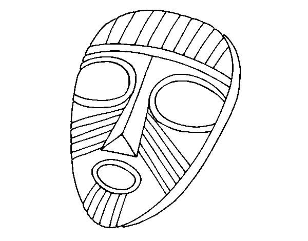 Dibujo de Máscara sorprendida para Colorear - Dibujos.net