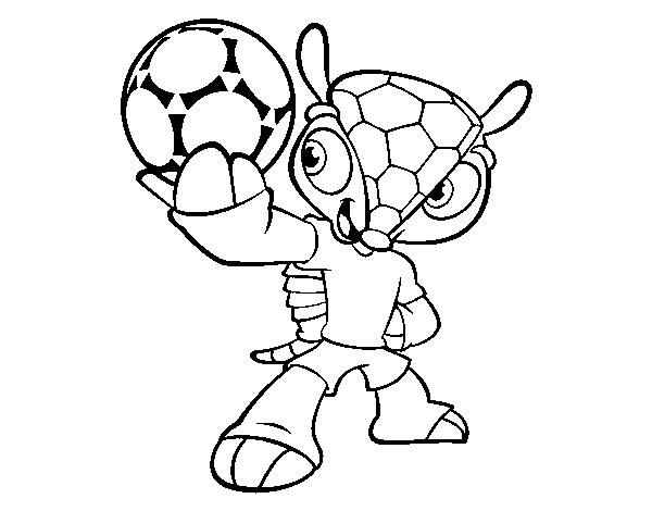 Dibujo De Mascota Fuleco Para Colorear Dibujosnet
