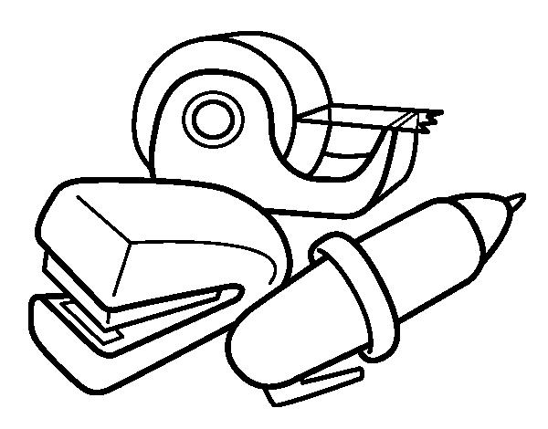 Dibujo de Material de colegio para Colorear - Dibujos.net