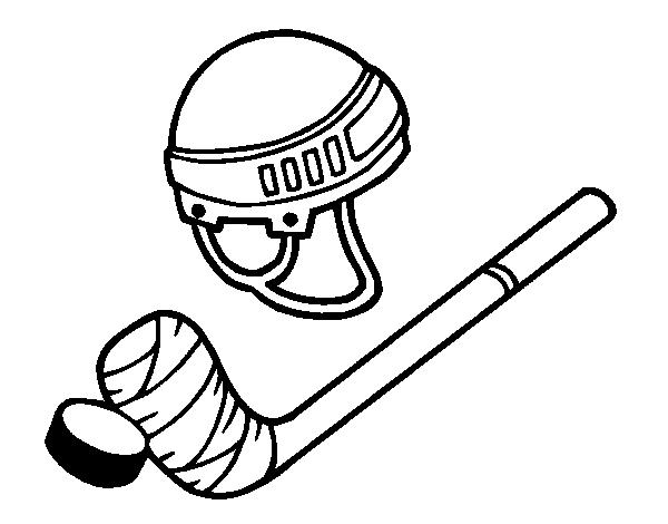 Dibujo de Material de hockey para Colorear - Dibujos.net