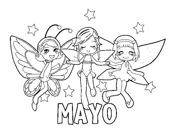 Primero De Mayo Para Colorear
