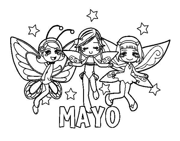 Dibujo de Mayo para Colorear - Dibujos.net