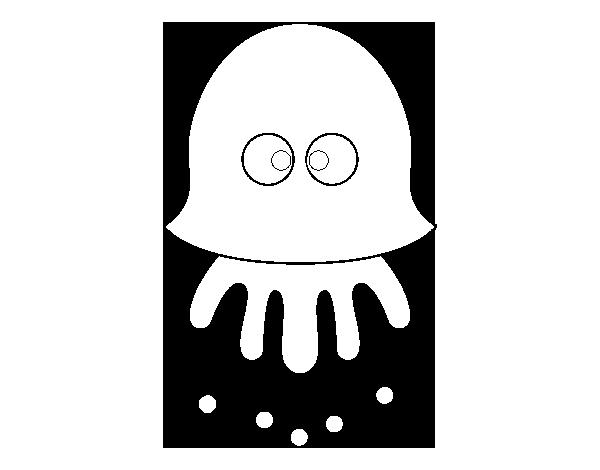 Dibujos Divertidos Para Colorear: Dibujo De Medusa Divertida Para Colorear