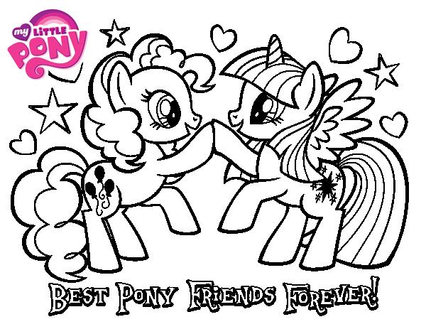 Dibujo de Mejores Pony Amigas para siempre para Colorear - Dibujos.net