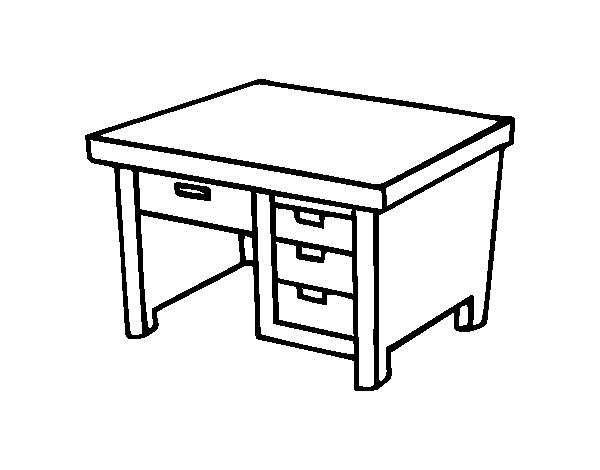 Dibujo De Mesa De Escritorio Para Colorear Dibujosnet