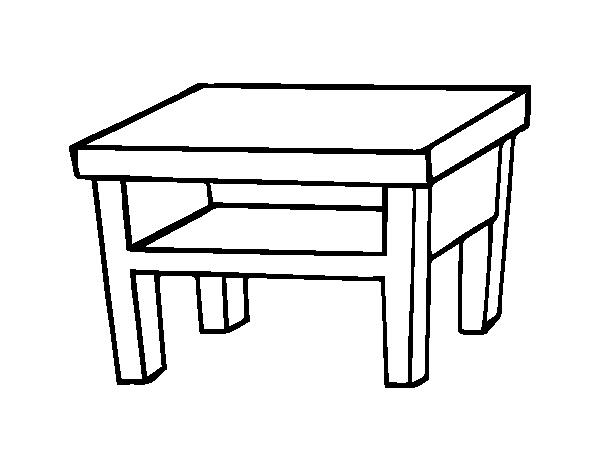 Dibujo De Mesa De Salón Para Colorear Dibujosnet