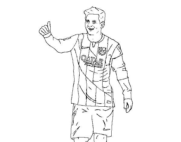 Dibujo de Messi Barça para Colorear   Dibujos.net