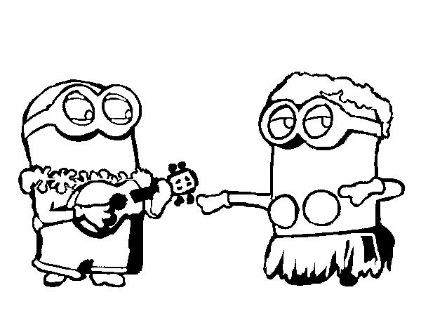 dibujo de minions dave y phil para colorear dibujos net