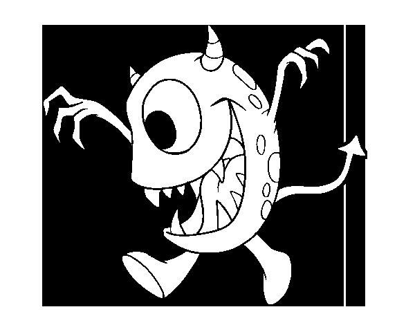 Dibujo de Monstruo con un ojo para Colorear - Dibujos.net