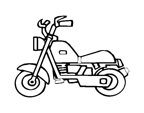 Dibujo de Moto harley para Colorear - Dibujos.net