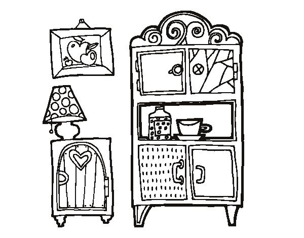 Dibujo de Muebles de salón para Colorear - Dibujos.net