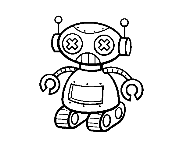 Juguetes Para Colorear Pintar E Imprimir: Dibujo De Muñeco Robot Para Colorear