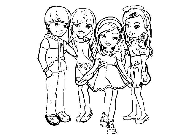 Dibujo De Nancy Y Sus Amigos Para Colorear Dibujosnet