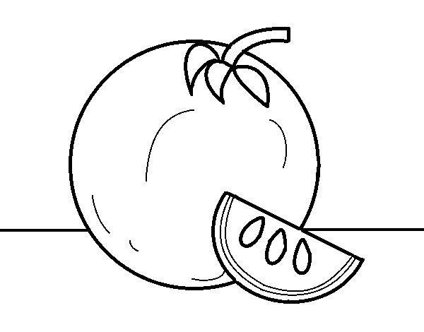 Dibujo De Naranja Grande Para Colorear Dibujosnet
