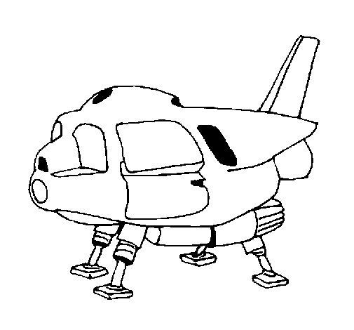 Dibujo de Nave espacial para Colorear - Dibujos.net