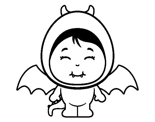 Dibujo de Niña dragón para Colorear - Dibujos.net