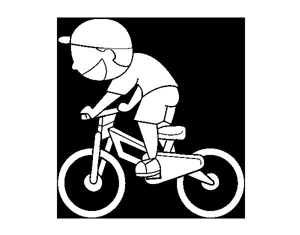 Dibujo de Niño ciclista para Colorear - Dibujos.net