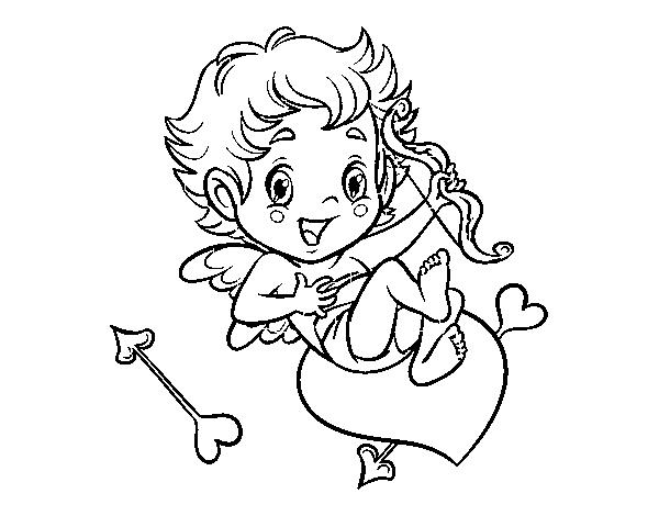 Dibujo de Niño Cupido para Colorear - Dibujos.net