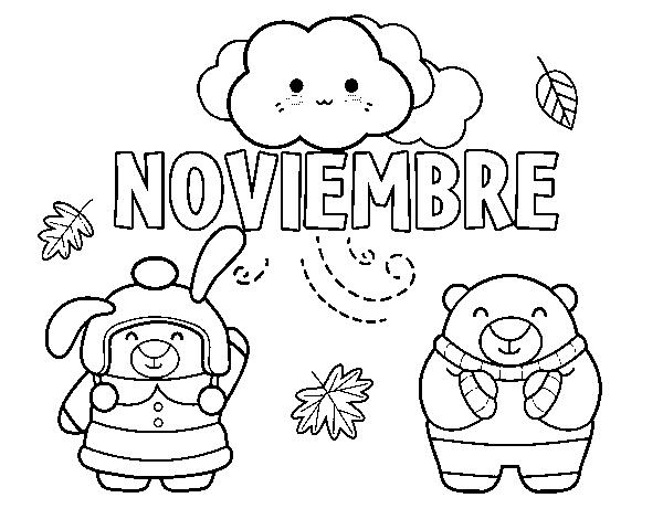 Dibujo de Noviembre para Colorear - Dibujos.net
