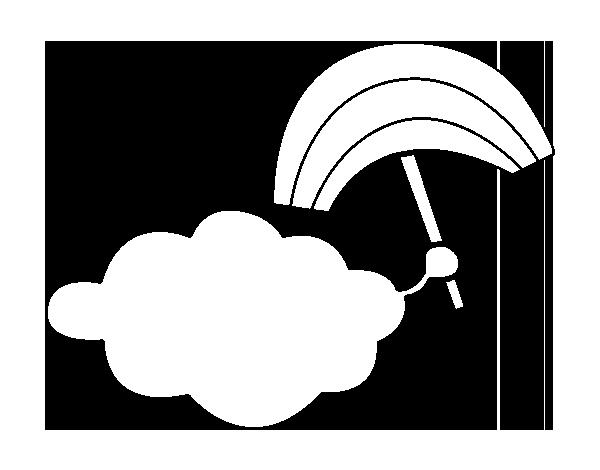 Dibujo De Nube Con Arcoiris Para Colorear Dibujosnet
